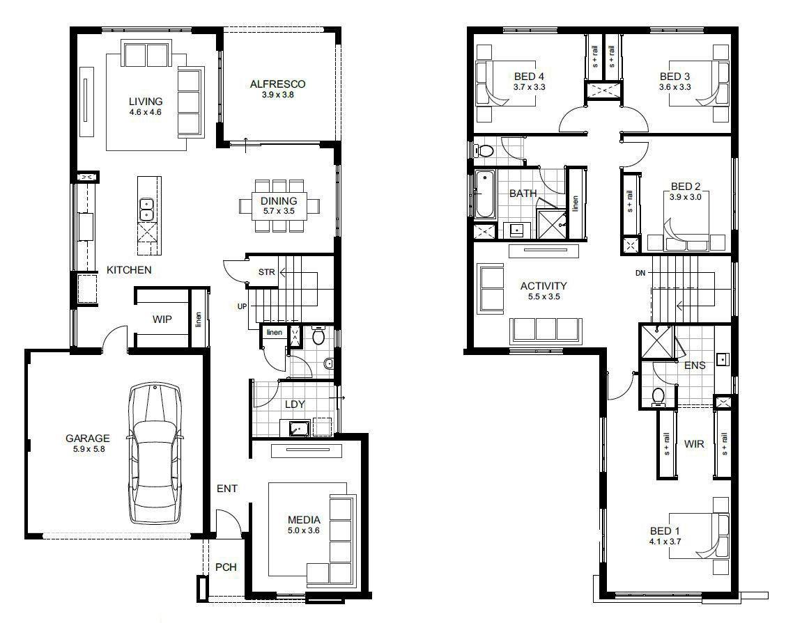 modern ranch floor plans - HD1128×895