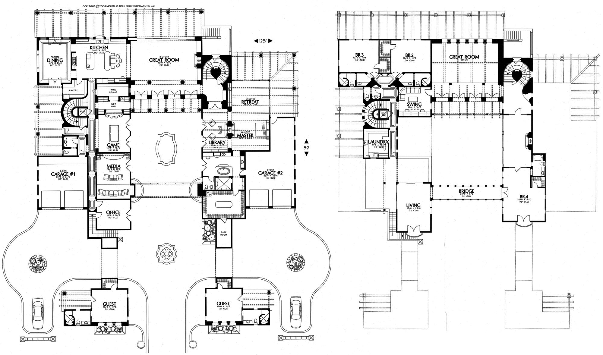Clic Mansion Floor Plans — Schmidt Gallery Design on colonial style house plans, colonial mansion home plans, colonial house plans with porches,