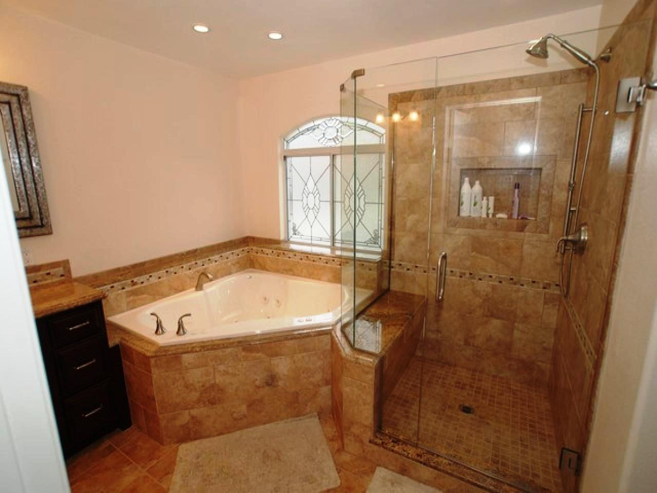 Corner Tub Shower Dimensions Schmidt Gallery Design