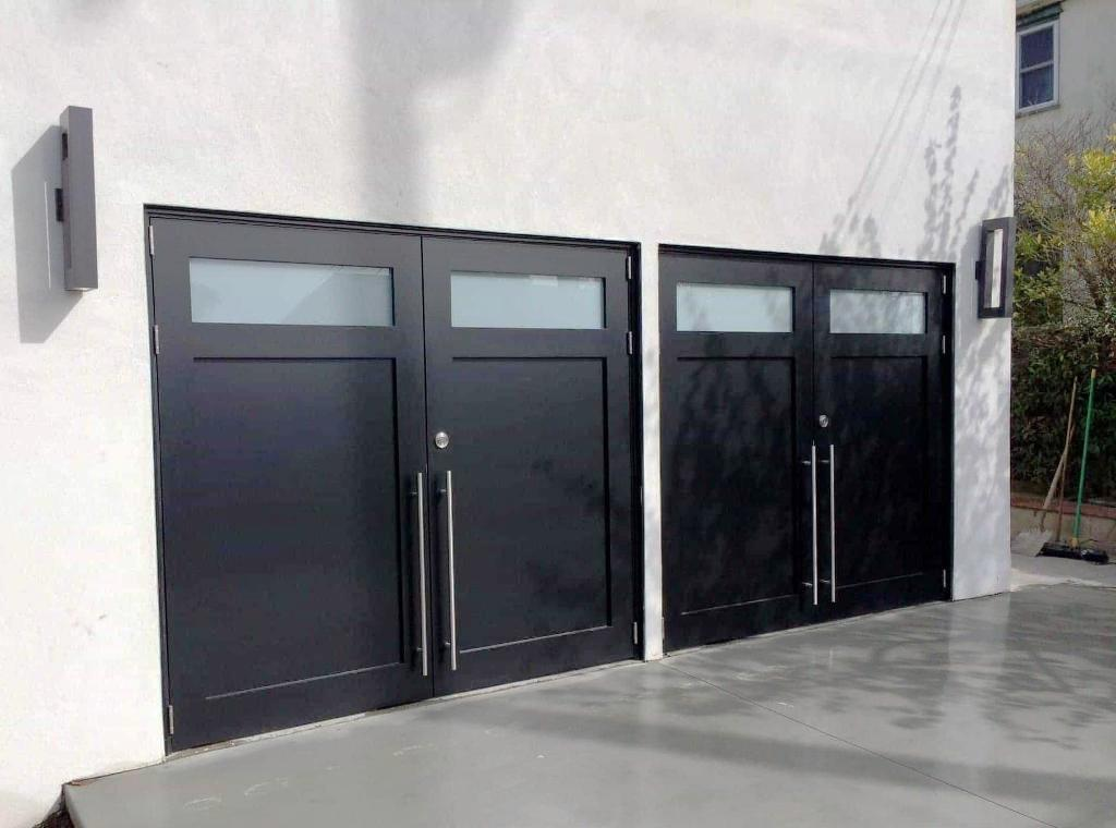 Modern Garage Doors With Double Door