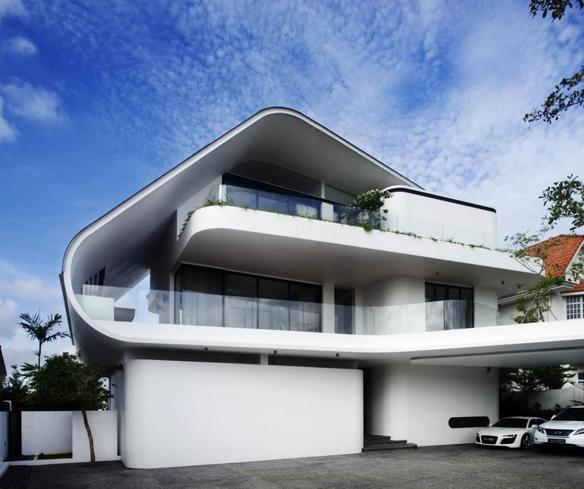 Modern house architecture drawing
