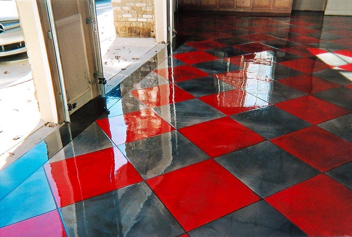 Oxy Red Garage Floor Epoxy