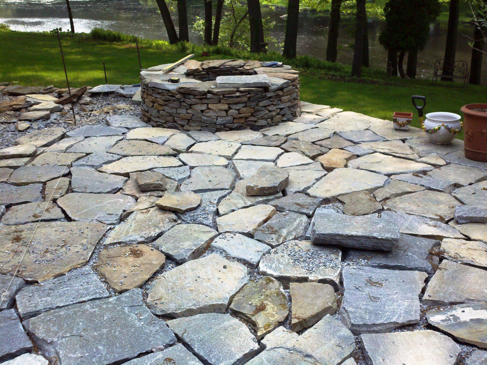 Patio Stones Around Fire Pit Schmidt Gallery Design