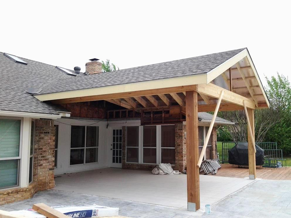 How To Build A Patio Cover Not Attached House Schmidt