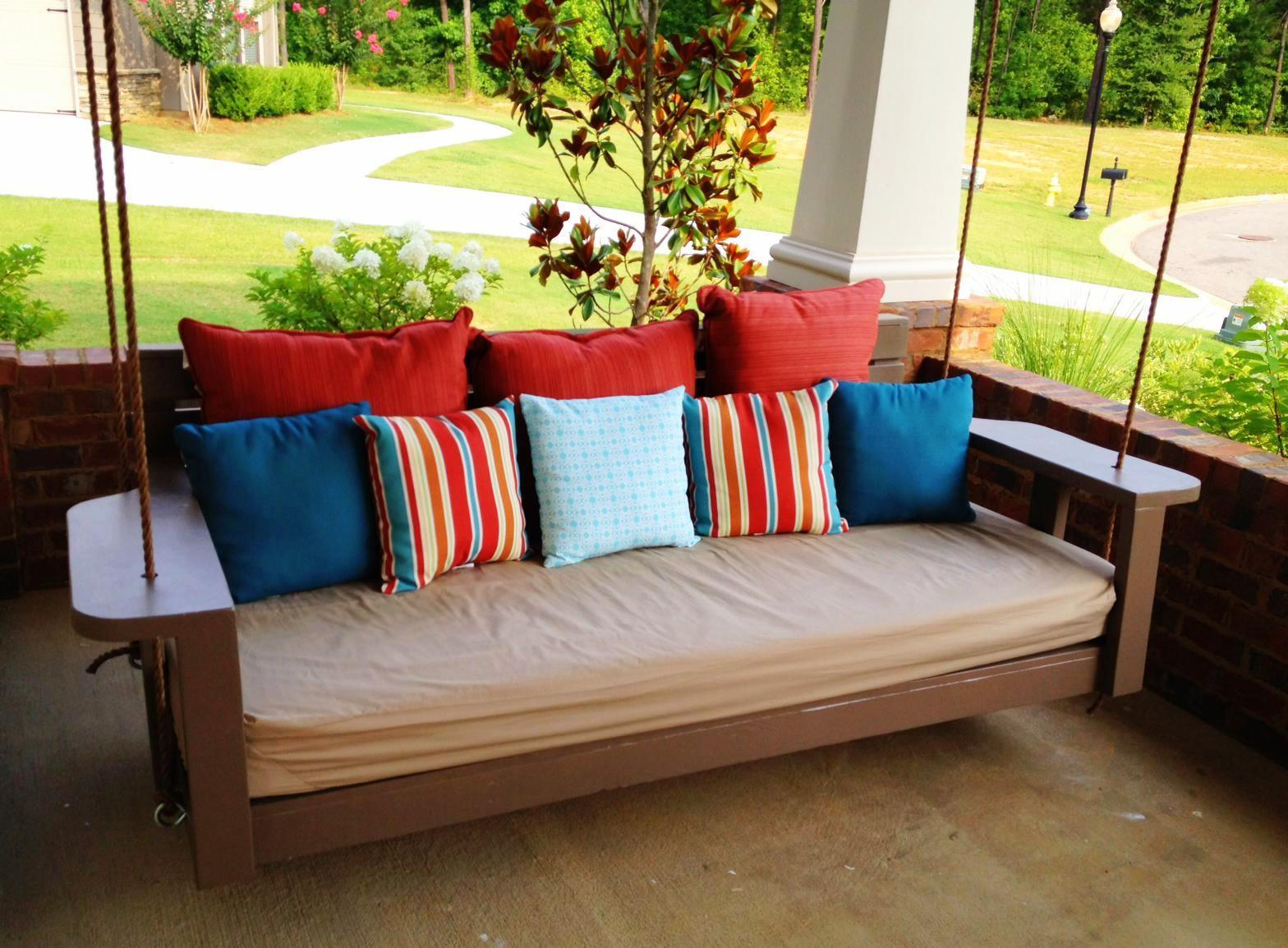 how to choose porch swing bed — schmidt gallery design