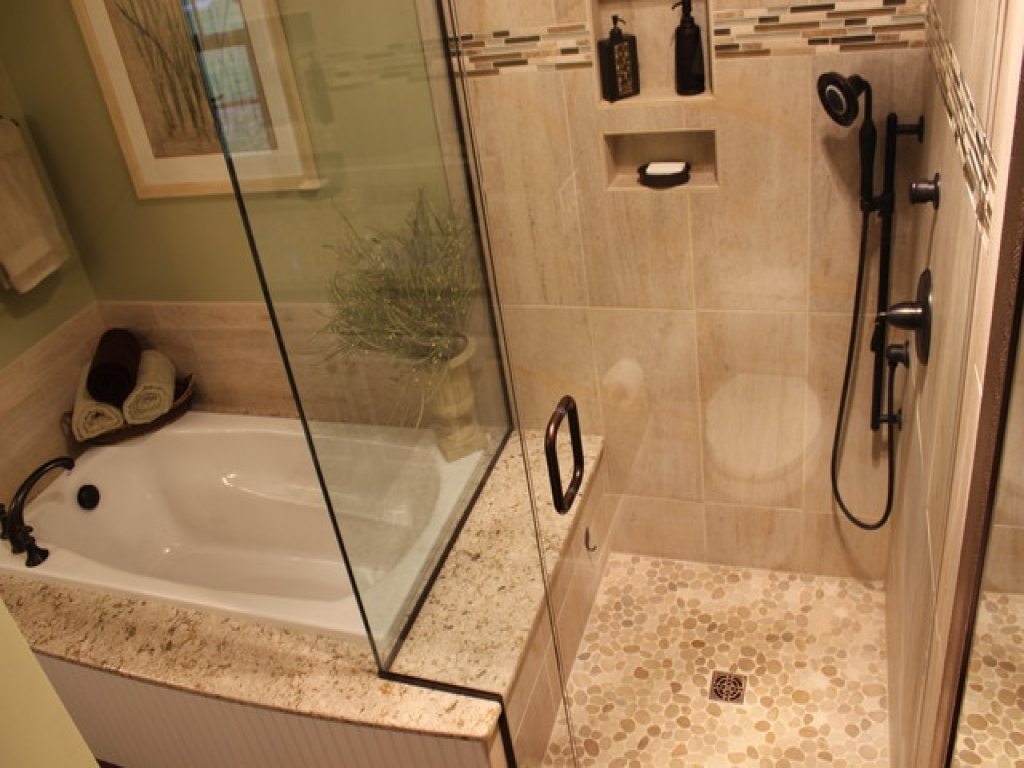 Shower tub combinations small bathrooms schmidt gallery - Small bathroom with tub ...