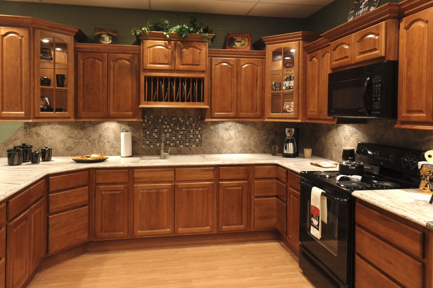 Rustic Kitchen Colors With Hickory Cabinets Ideas Schmidt