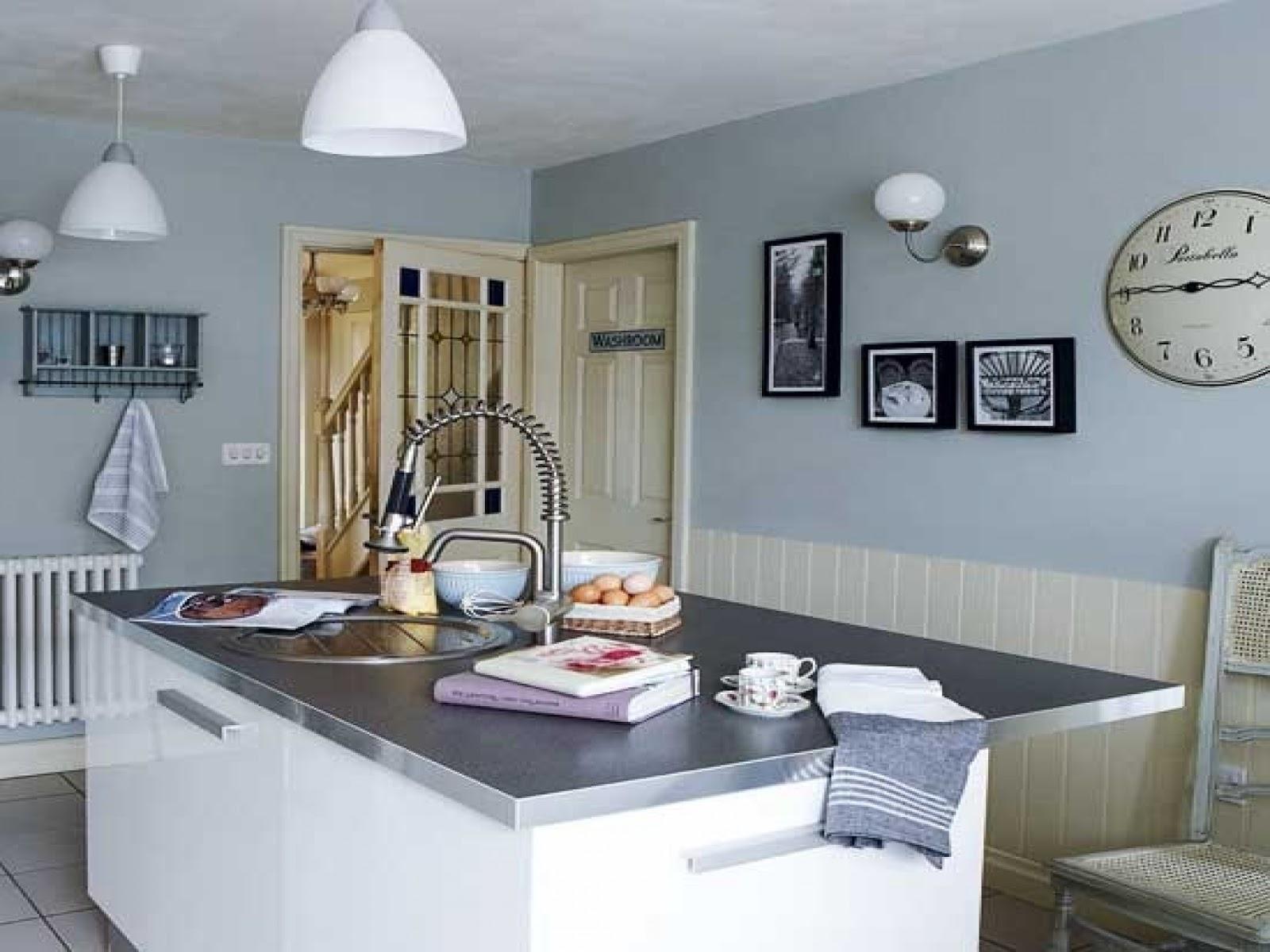 Installing Sensational Light Blue Kitchen Walls — Schmidt ...