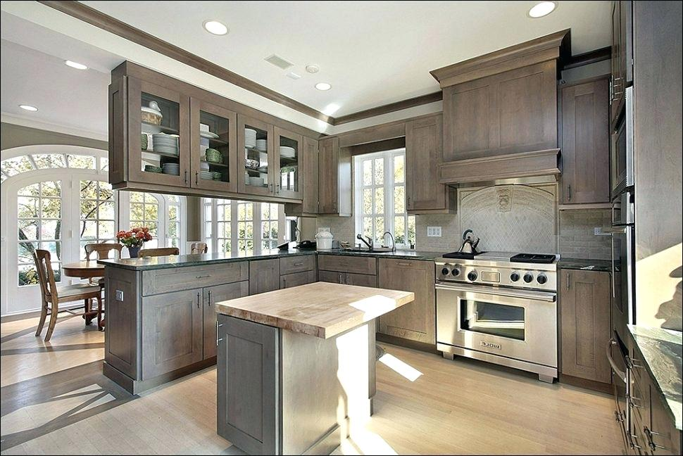 Stylish Grey Stained Kitchen Cabinets : Schmidt Gallery ...