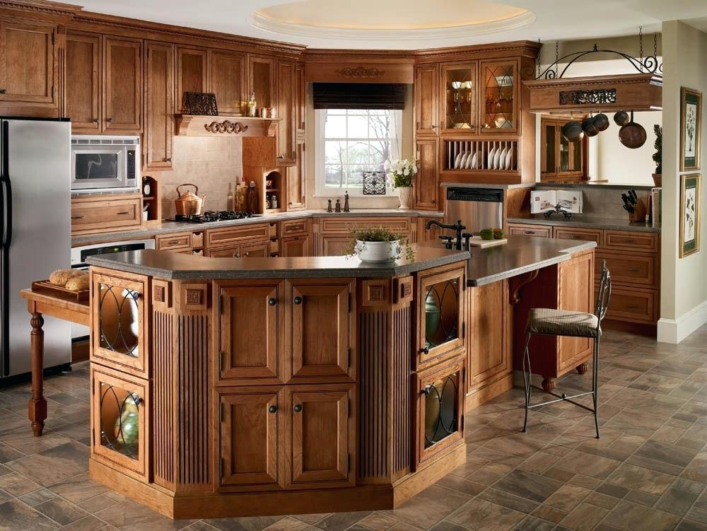 Classic Kraftmaid Kitchen Island — Schmidt Gallery Design