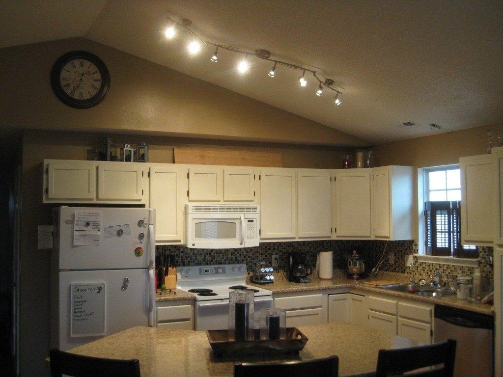 Vaulted Ceiling Kitchen Lighting Angled Schmidt