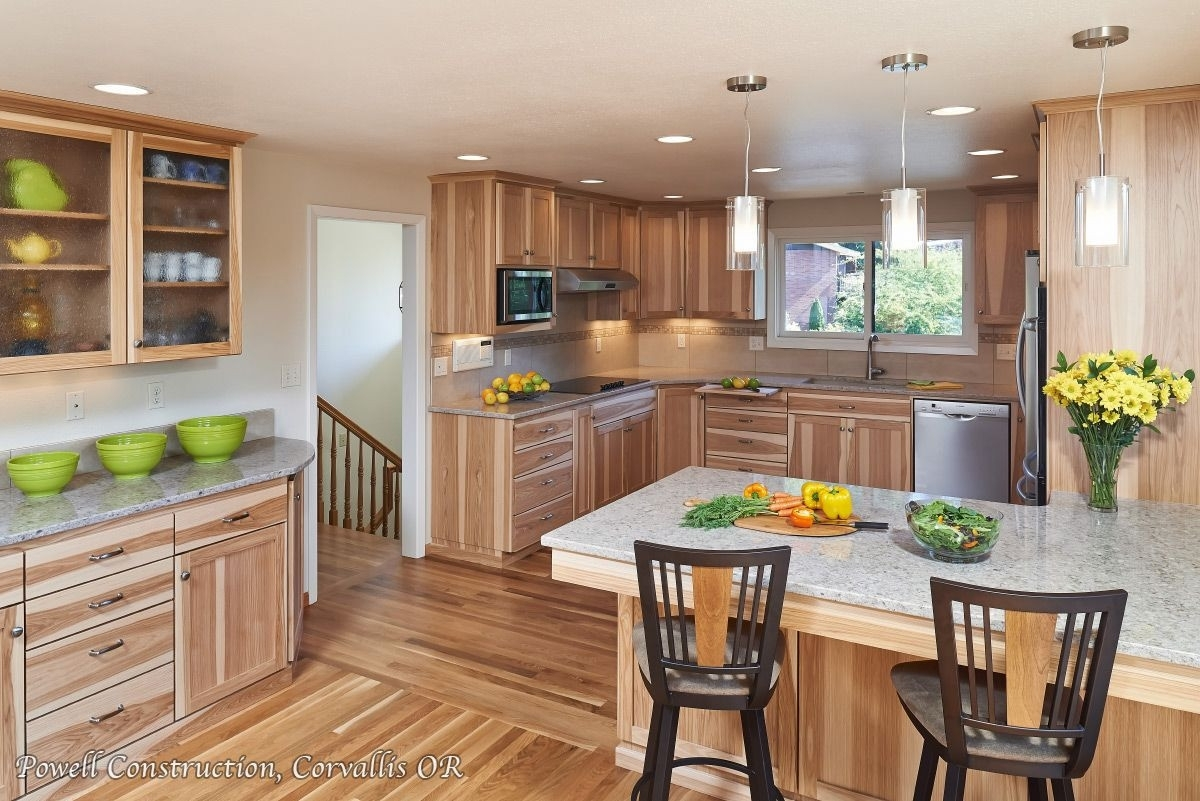 kitchen-color-schemes-with-hickory-cabinets Paint With Dark Walnut Cabinets Kitchen Ideas on dark cabinet kitchen designs, dark walnut color kitchen cabinets, dark walnut floors in kitchen, dark maple kitchen cabinets, wood cabinets for kitchen backsplash ideas, dark walnut kitchen design,