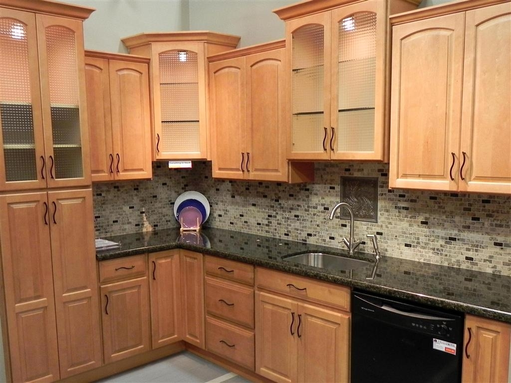 Installing Maple Kitchen Cabinets With Granite Countertops ... on Countertops That Go With Maple Cabinets  id=35237