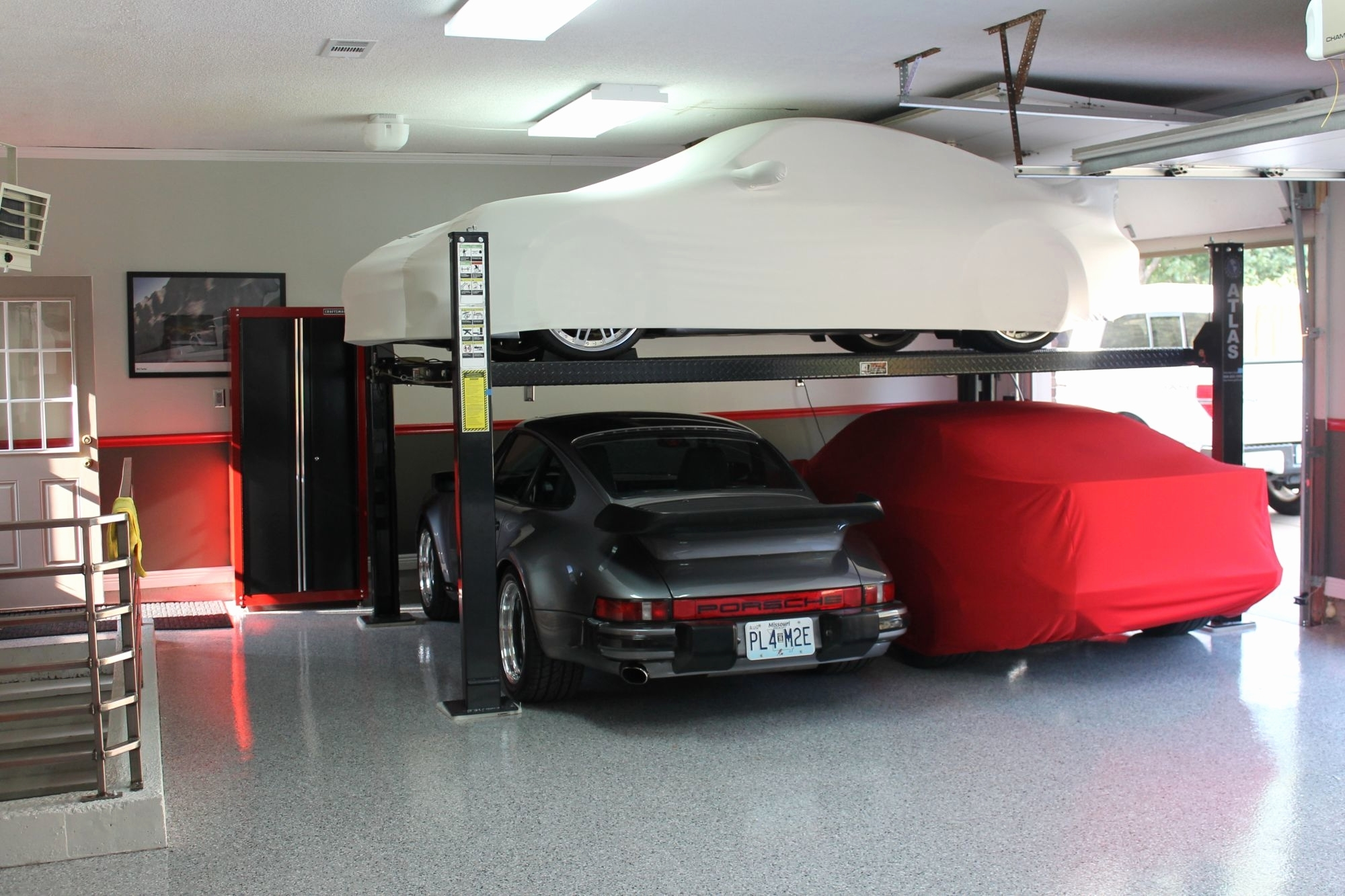 2 Post Car Lift Home Garage Schmidt Gallery Design