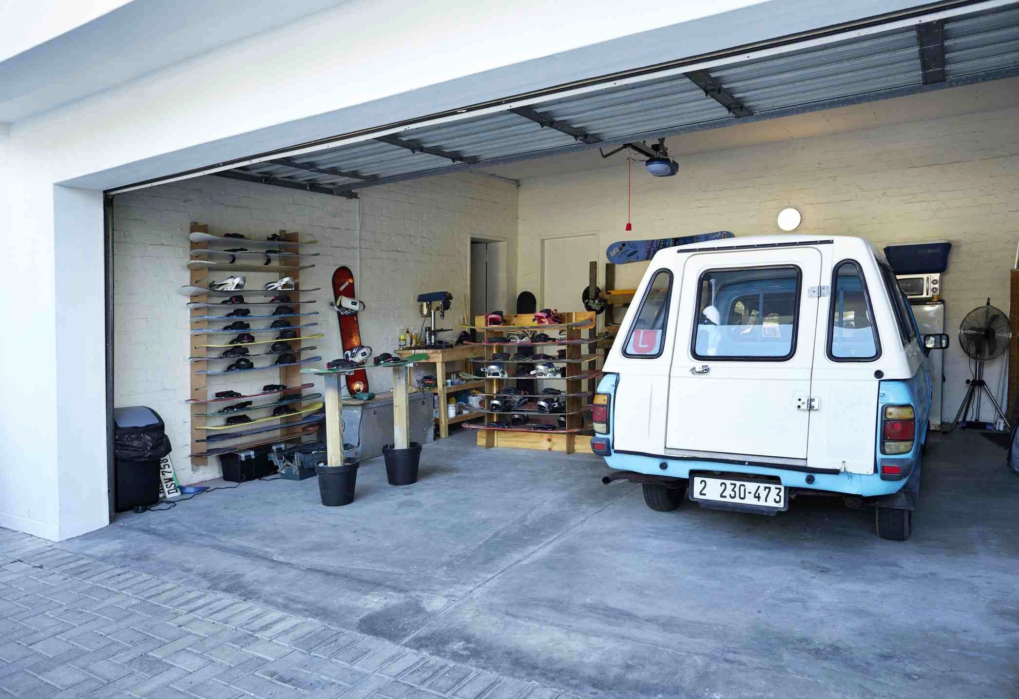 Car Lift For Storage In Garage Schmidt Gallery Design The Most