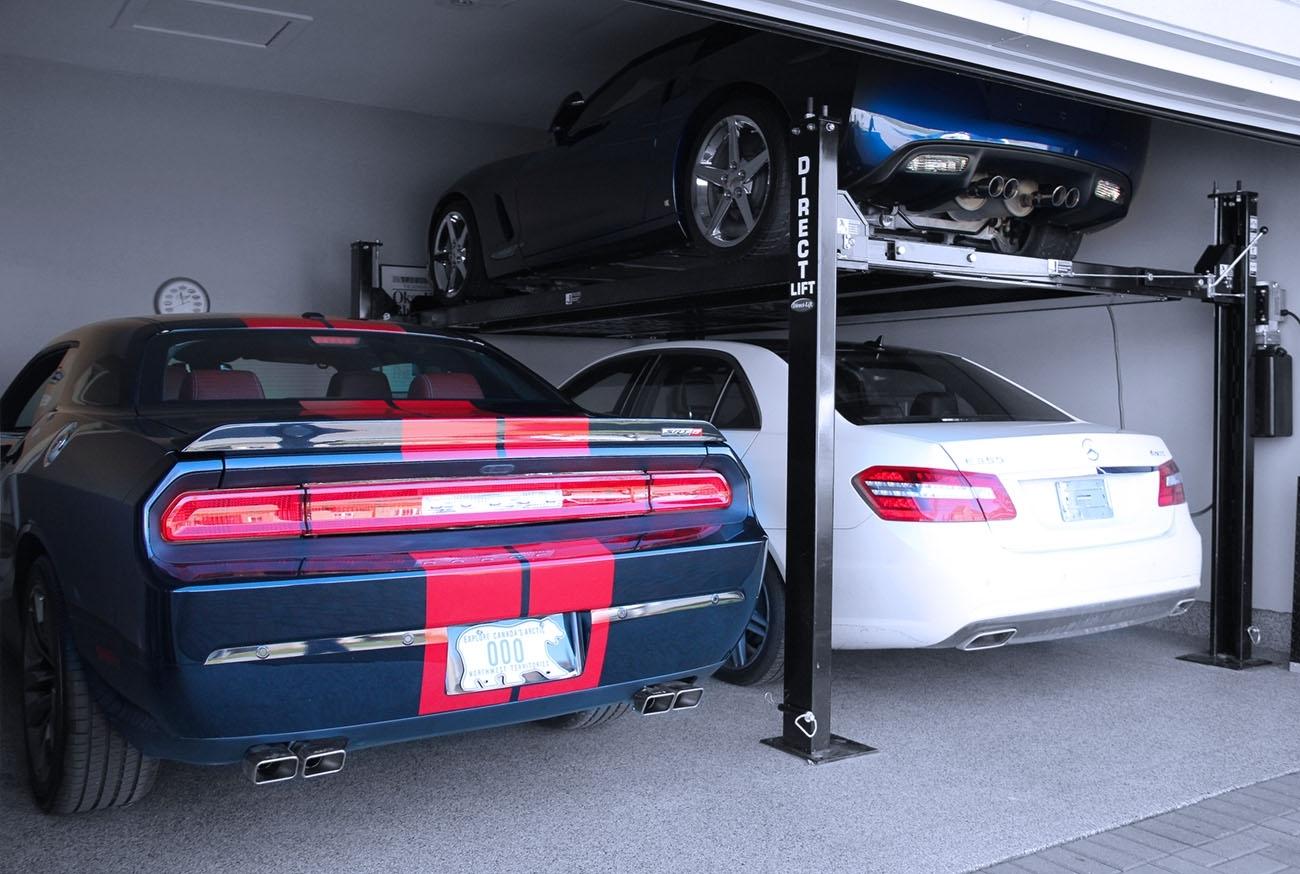 Portable Parking Garage >> Hydraulic Car Lift Home Garage — Schmidt Gallery Design