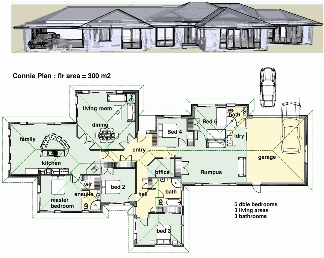 Modern home plans layout